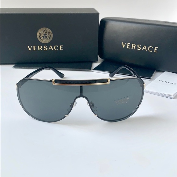 96b359bef88 Versace Sunglasses Aviator VE2140 100287 Black